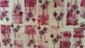 Hand-printed fabric by Ruth Hartmann
