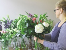 Victoria working at Blue Door Flowers